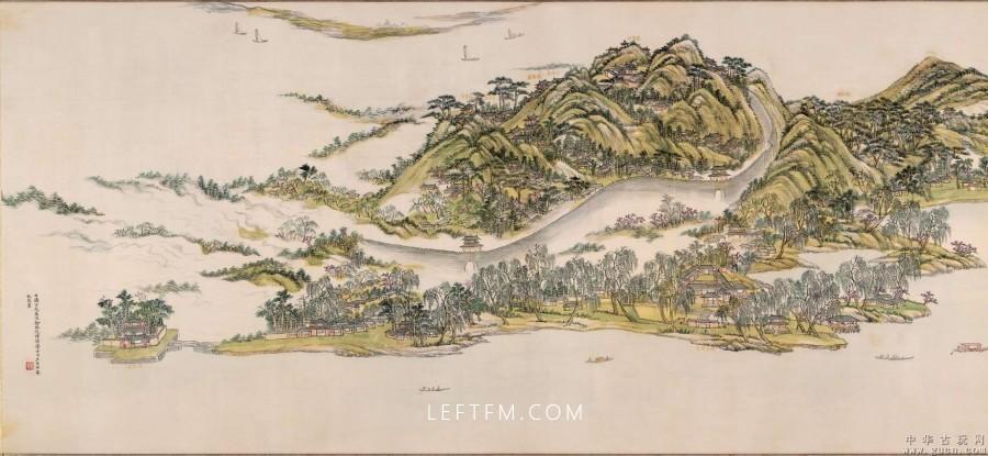 王原祁西湖十景