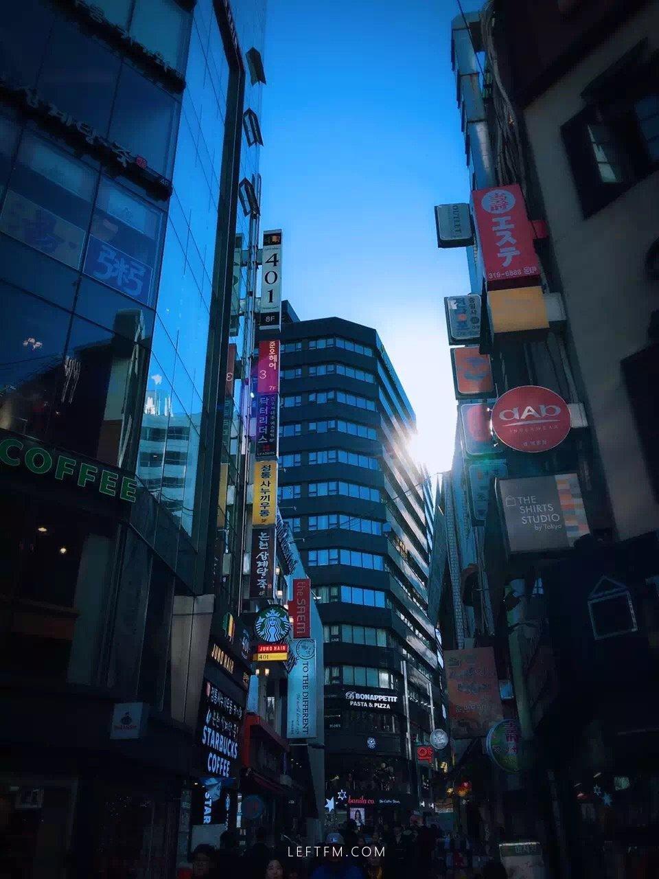 我在韩国,天气晴