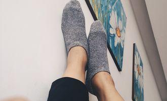 母上大人帮我织了双船袜